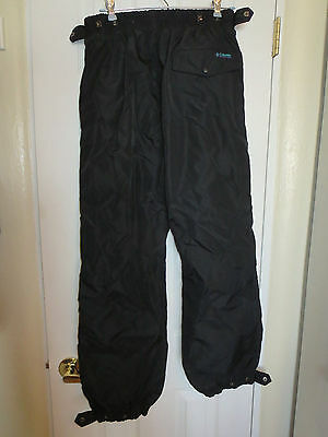 COLUMBIA Black Nylon Snowboarding Ski Snow Winter Lined Pants Size Women's Large