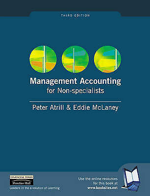 Management Accounting for Non-specialists by Eddie McLaney, Peter Atrill...