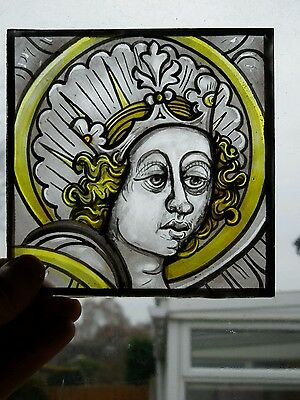 Medieval Style Stained Glass Panel.