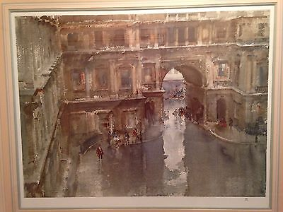 THE ROYAL ACADEMY COURTYARD, Sir Wm RUSSELL FLINT. VERY RARE LIMITED EDITION.