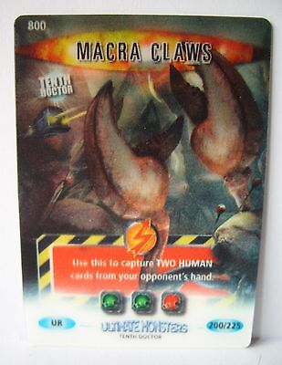 Doctor Who, Battles in Time. Ultimate Monsters. Ultra Rare 3-D card MACRA CLAWS