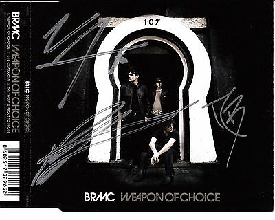 BLACK REBEL MOTORCYCLE CLUB Weapon Of Choice SIGNED/AUTOGRAPHED CD insert + CoA