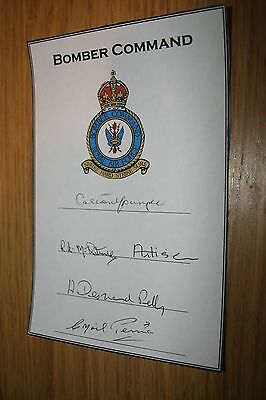 RAF Bomber Command PoW Multi Signed Book PLate DFC DFM