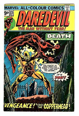 Daredevil #125 September 1975 featuring Copperhead. FN+