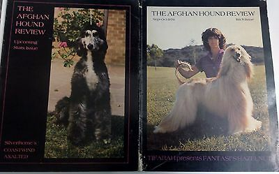 Afghan Hound Review Magazine -  Lot of 6 Issues - 1978, 1979, 1980