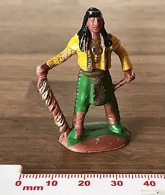 Vintage Painted Plastic Toy Soldier American Wild West Red Indian