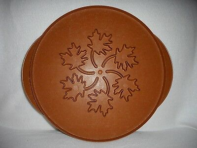"Nordic Ware 12"" Pie Top Cutter Stencil 2-sided Maple Leaves – Apples"