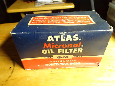 Atlas Micronal Oil Filter G-60 Factory Sealed
