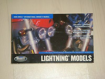 Buell 2005 Lightning Models Owners Manual
