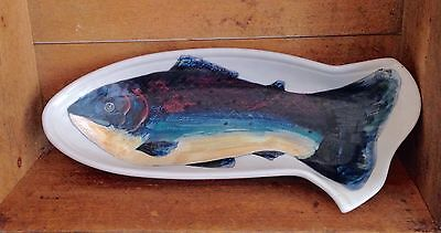 Highland Stoneware Fish Server Table Use Or Wall Hanging