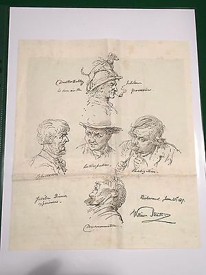 Rare Antique Print - Sketches for the Golden Jubilee of Queen Victoria, 1887