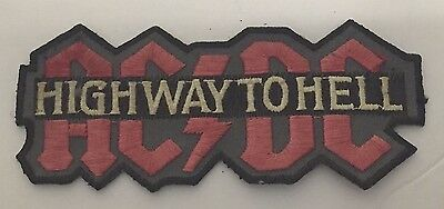 "Vintage AC/DC HIGHWAY TO HELL Patch ~4 3/4"" Long~"