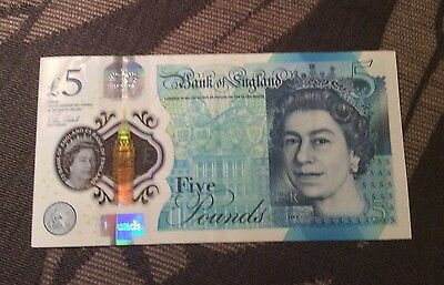 Plastic Bank Of England £5 Note. AA Serial Number