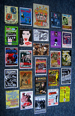 26 Psychobilly Garage Punk Gig Flyers The Meteors Fleshtones Cramps Stay Sick Pa