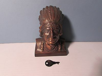 Banthrico Mokena State Bank Indian Bust Still Bank With Key