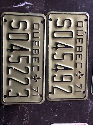 Two 1971 Ski-doo License Plate