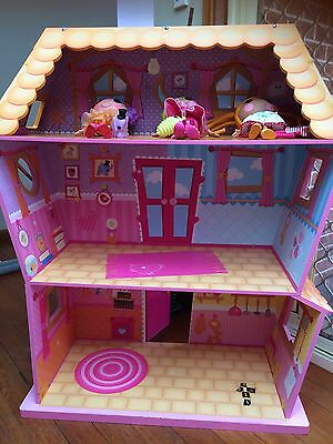 Lalaloopsy Large Wooden Doll House With 3 Dolls