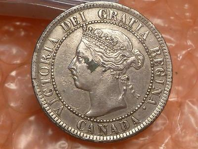 Canada 1884 Large Cent As Shown Dipped in Silver #1