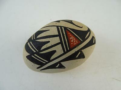 Vintage Art Pottery Pueblo Native American Indian Egg Statue Figuring Jemez NM