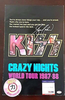KISS Crazy Nights Tour Program *SIGNED BY BRUCE KULICK* PSA + Back Stage Pass