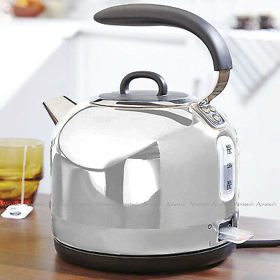 EGL Stainless Steel Modern Electric Dome Design Kitchen Kettle 360° 1.7 L 2200W