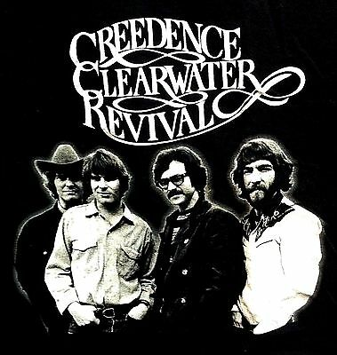 Creedence Clearwater Revival Classic Small Black Shirt No Tag Ccr John Fogerty