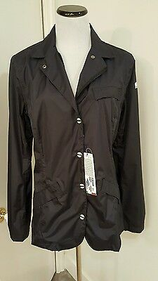 "Animo navy blue ""Quebec"" wind breaker blazer jacket size 48 mesh lined NWT"