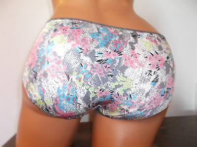 Vtg Panties Floral Hipster Thin No Show Bright Nwt M/6