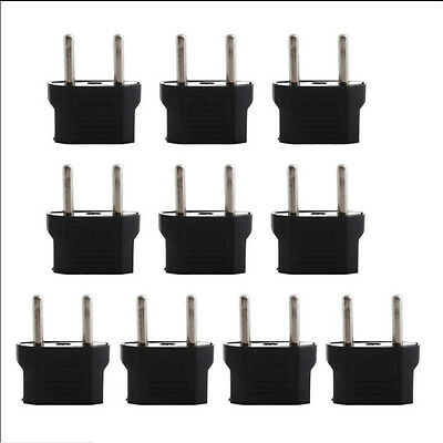 5pcs USA US  to Euro EU Europe AC Power Plug Converter Travel Adapter Charger