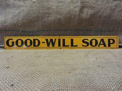 Vintage Embossed Good Will Soap Sign #8   Antique Old Goodwill Kitchen Bath 9490