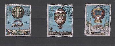 Paraguay stamps used - Montgolfier balloons 0269