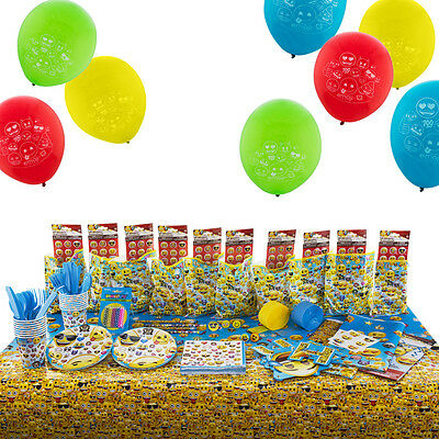 Emoji All-in-One Birthday Kit Party Set Includes 10 Filled Loot Favour Bags