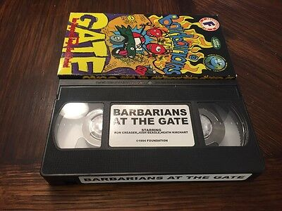 Foundation barbarians at the gate  skate VHS tape skateboarding video vid