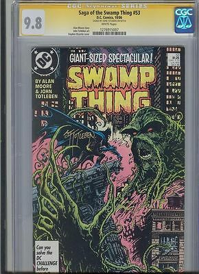* SWAMP THING #53 CGC 9.8 SS Signed TOTLEBEN BATMAN (1276915007) *