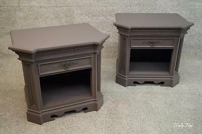 French Regency Dovetailed Wood 2 Side End Night Stands Tables Superior Quality