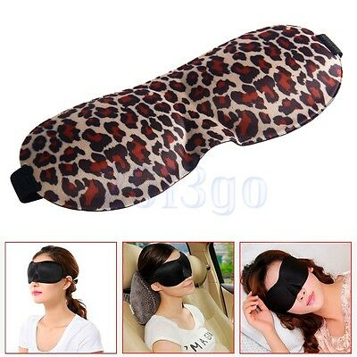 3Dmasque yeux cover shade bandeau couchage holiday yeux avion imprimé Léopard HG