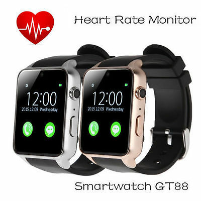 GT88 Waterproof Phone mate NFC Heart Rate Bluetooth Smart Watch For Android NEW