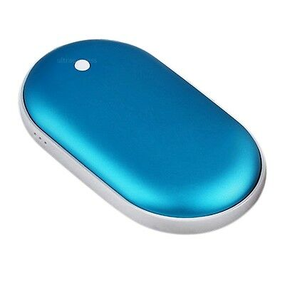 Cobblestone USB Charger PocketElectric Hand Warmer Rechargeable Heater Blue #U