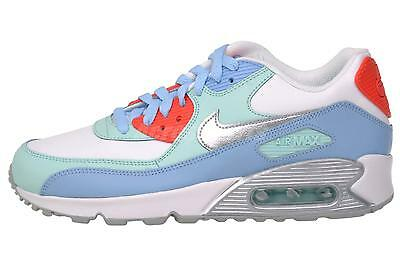 Nike Air Max 90 LTR GS Boys Girls Kids Youth Running Shoes White Teal 724852-100