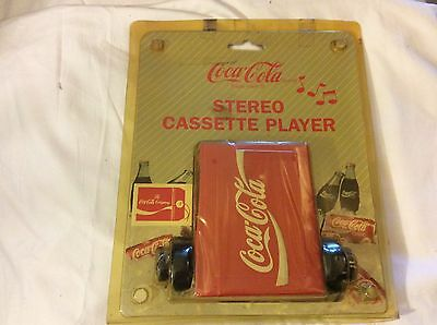 vintage 1994 coca-cola stereo cassette player new