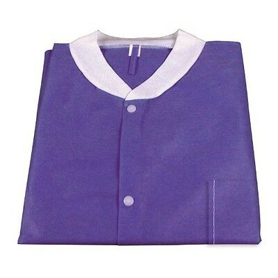 Dynarex 2035 Labjacket with Pockets, X-Large, Purple (Pack of 3)