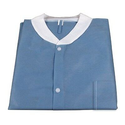 Dynarex 2012 Labjacket with Pockets, Small, Dark Blue (Pack of 3)
