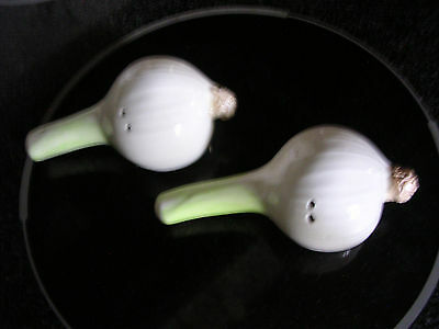 Onion shaped salt and pepper shakers