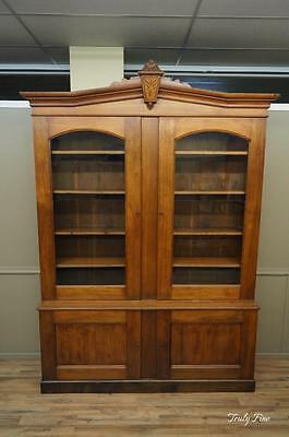 Monumental 150 Years Old Bookcase Display Cabinet Curio Showcase China Cabinet