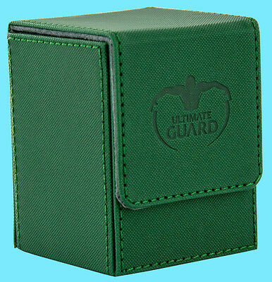 ULTIMATE GUARD XENOSKIN FLIP DECK CASE Standard Size GREEN 100+ Game Card Box