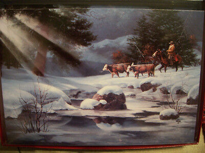 Leanin Tree  Christmas Card Set Beautiful Cowboy Scene & Prayer  10 Pk New !