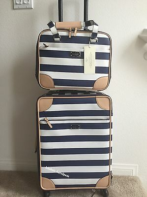 $1100  NWT KATE SPADE International Carry On Suitcase +Topper TRAVEL SET