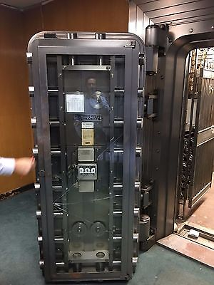 Mosler 1950's Bank Vault Door, Gate and 2,500 Deposit Boxes