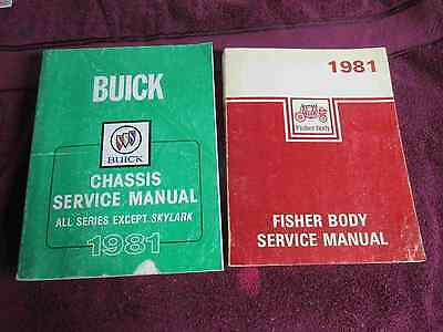 1981 Buick FACTORY Service AND Body Manuals; Riviera,Electra,LeSabre,Century
