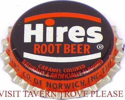 1950s Taftville Connectiut Hires Root Beer Soda Cork Crown Tavern Trove